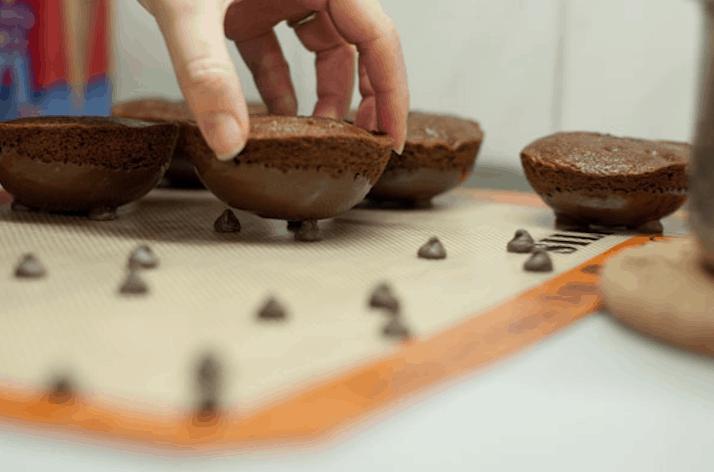 Caldeirões de chocolate de Harry Potter.